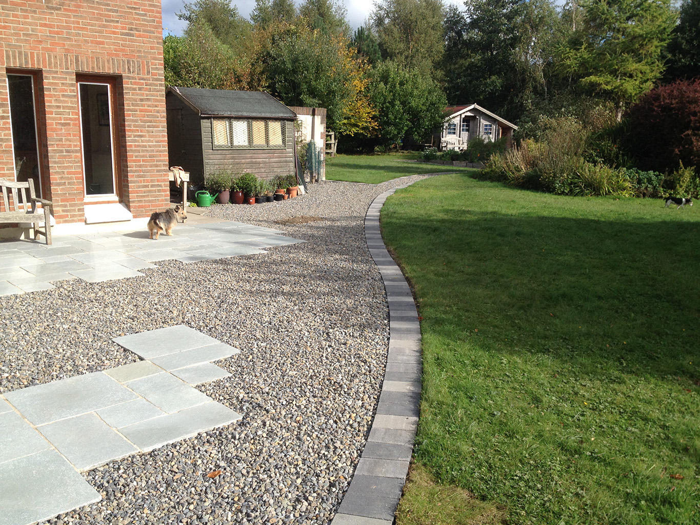 Old Concrete Patio In Celbridge Replaced With Limestone. This Project Was  Completed In October, 2013.